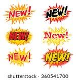new   comics speech bubbles.... | Shutterstock .eps vector #360541700