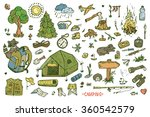 recreation. tourism and camping ... | Shutterstock .eps vector #360542579