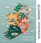 Travel Map Of Ireland With...