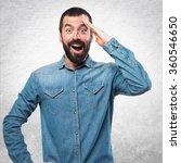 man doing surprise gesture   Shutterstock . vector #360546650