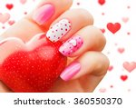 Valentine Nail Art Manicure....