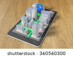 navigation concept with a cell... | Shutterstock . vector #360560300
