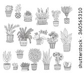 big set of cute hand drawn... | Shutterstock .eps vector #360565310