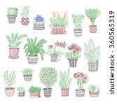 big set of cute hand drawn... | Shutterstock .eps vector #360565319