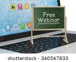 laptop with chalkboard  free... | Shutterstock . vector #360567833