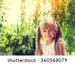 portrait of smiling little girl ... | Shutterstock . vector #360568079