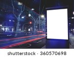 electronic blank billboard with ... | Shutterstock . vector #360570698