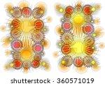 intriguing modern abstract... | Shutterstock . vector #360571019
