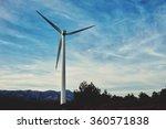 windmill standing in...   Shutterstock . vector #360571838