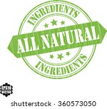all natural and ingrenients... | Shutterstock .eps vector #360573050