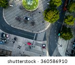 Top View Rossio Square Lisbon - Fine Art prints