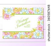 invitation with floral... | Shutterstock . vector #360587648