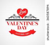 happy valentine day... | Shutterstock .eps vector #360587894