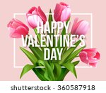 valentines day greeting card... | Shutterstock .eps vector #360587918