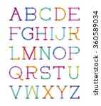 font serif with effect of... | Shutterstock .eps vector #360589034