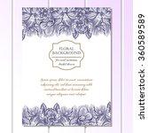 vintage delicate invitation... | Shutterstock . vector #360589589