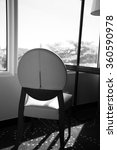 window beach view with chair... | Shutterstock . vector #360590978