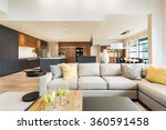 beautiful living room interior...   Shutterstock . vector #360591458
