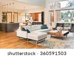 beautiful living room interior... | Shutterstock . vector #360591503