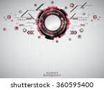 abstract red technology... | Shutterstock .eps vector #360595400