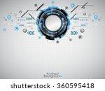 abstract blue technology... | Shutterstock .eps vector #360595418