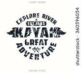 adventure on kayak badge.... | Shutterstock .eps vector #360596054