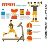 fitness infographics in flat... | Shutterstock .eps vector #360596120