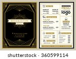 restaurant or cafe menu cover... | Shutterstock .eps vector #360599114