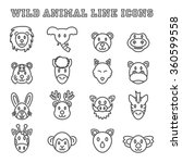 wild animal line icons  mono... | Shutterstock .eps vector #360599558