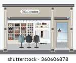 clothing store  boutique indoor ... | Shutterstock .eps vector #360606878