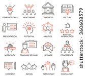 vector set icons related to... | Shutterstock .eps vector #360608579
