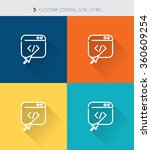 thin thin line icons set of...