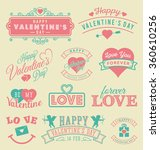 valentine's day labels and...   Shutterstock .eps vector #360610256