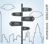sign street concept infographic. | Shutterstock .eps vector #360611639