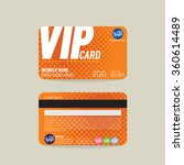 front and back vip member card... | Shutterstock .eps vector #360614489