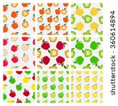 set of seamless pattern of... | Shutterstock .eps vector #360614894