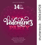 valentine's day party poster or ... | Shutterstock .eps vector #360616928