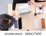 business people sitting and... | Shutterstock . vector #360617600