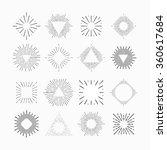 tribal boho style frame with...   Shutterstock .eps vector #360617684
