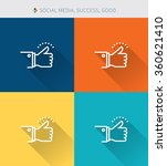 thin thin line icons set of...   Shutterstock .eps vector #360621410
