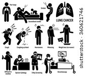lung cancer symptoms causes... | Shutterstock .eps vector #360621746