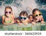 three happy children  playing... | Shutterstock . vector #360623924