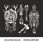 vector set of the epic indian... | Shutterstock .eps vector #360628568