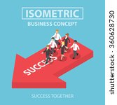 business leader bring his team... | Shutterstock .eps vector #360628730