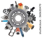 new auto spare parts around... | Shutterstock . vector #360630470