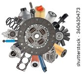 new auto spare parts around... | Shutterstock . vector #360630473