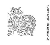 zentangle the baikal bear for... | Shutterstock .eps vector #360633548