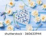 decorative heart and fresh ... | Shutterstock . vector #360633944