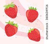 set of  sweet strawberry | Shutterstock .eps vector #360634916
