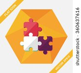 puzzle flat icon with long... | Shutterstock .eps vector #360637616
